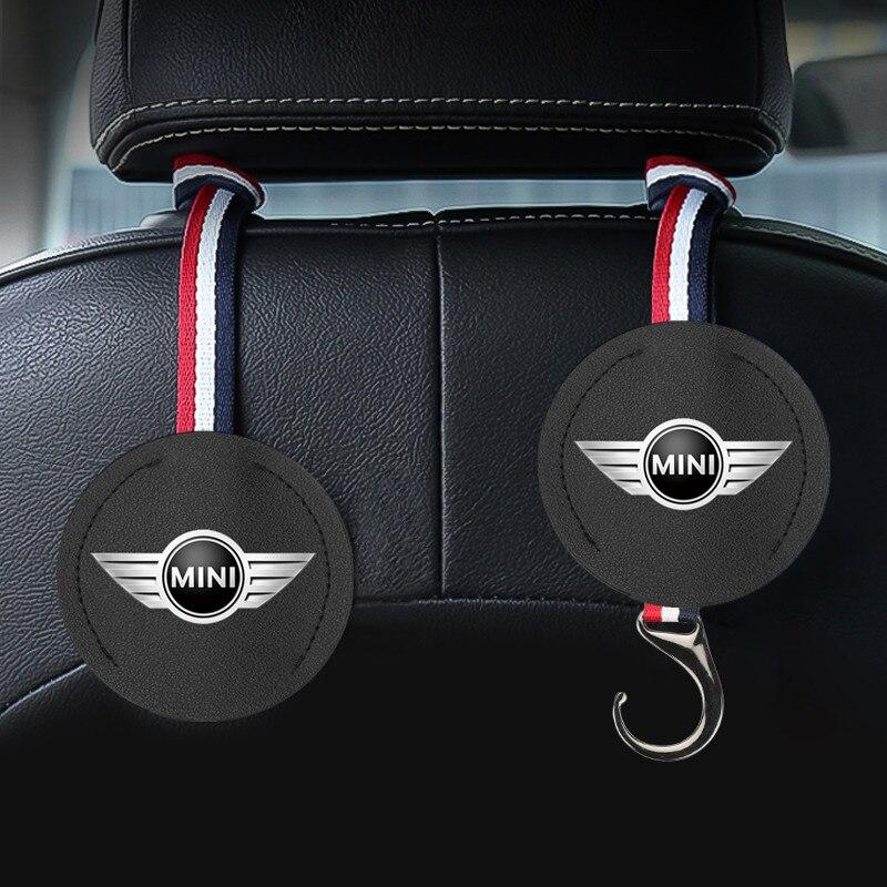 Gancho para el asiento del coche, 1 Uds., gancho colgador de reposacabezas de asiento trasero, ganchos de almacenamiento para Mini Cooper Countryman clubman F54 F56 F55 F60 R60 R61
