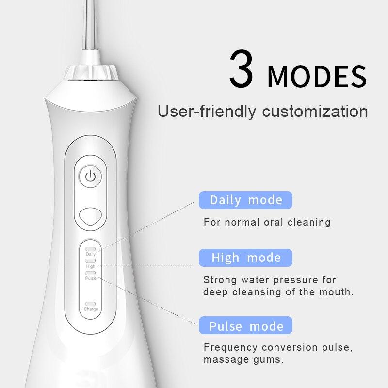 2021 Nieuwe Monddouche Draagbare Water Tanden Bleken Usb Oplaadbare 3 Modes IPX7 200 Ml Water Voor Cleaning Tanden SG833 enlarge