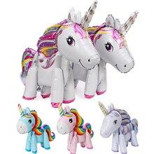 1PC 57*58CM Pink Little Horse Unicorn Foil Balloons Helium Balloon Kids Toys Wedding Birthday Animal Party Decor Supplies