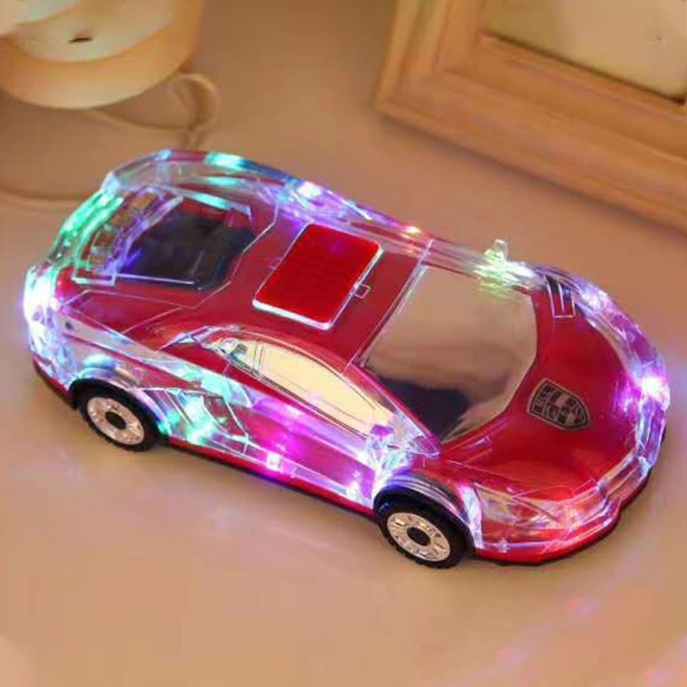 Portable Mini Car Model Speakers with FM Radio L-B Car Shape Support USB TF Card Stereo MP3 Music Player Bass Kid Gift Sound Box enlarge