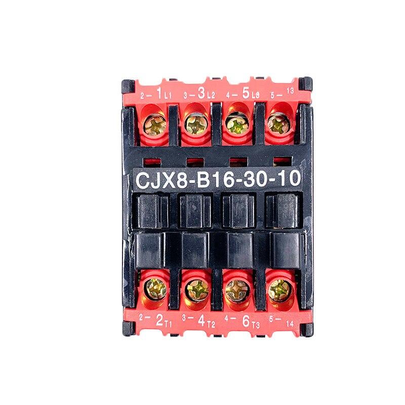 1 unidad de Contactor de CA 4 terminales de tornillo 35mm riel de montaje 220V 50Hz 5.5KW(AC-3) potencia 3 polos + 3 circuitos de Control B16-30-10