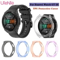 tpu half pack protective case for huawei watch gt2e screen shell soft protective case for huawei gt2e smart watch protector case