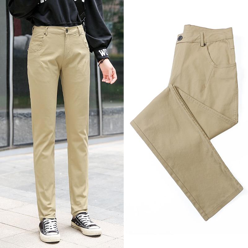 women trousers straight pants casual female pantalon femme calca feminina khaki black blue green army big plus size 3XL