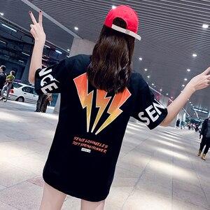Women T Shirts Street Fashion Loose Summer Black T Shirt Women 2020 New Planet Print Casual Oversize Women Tops Cotton T-Shirts