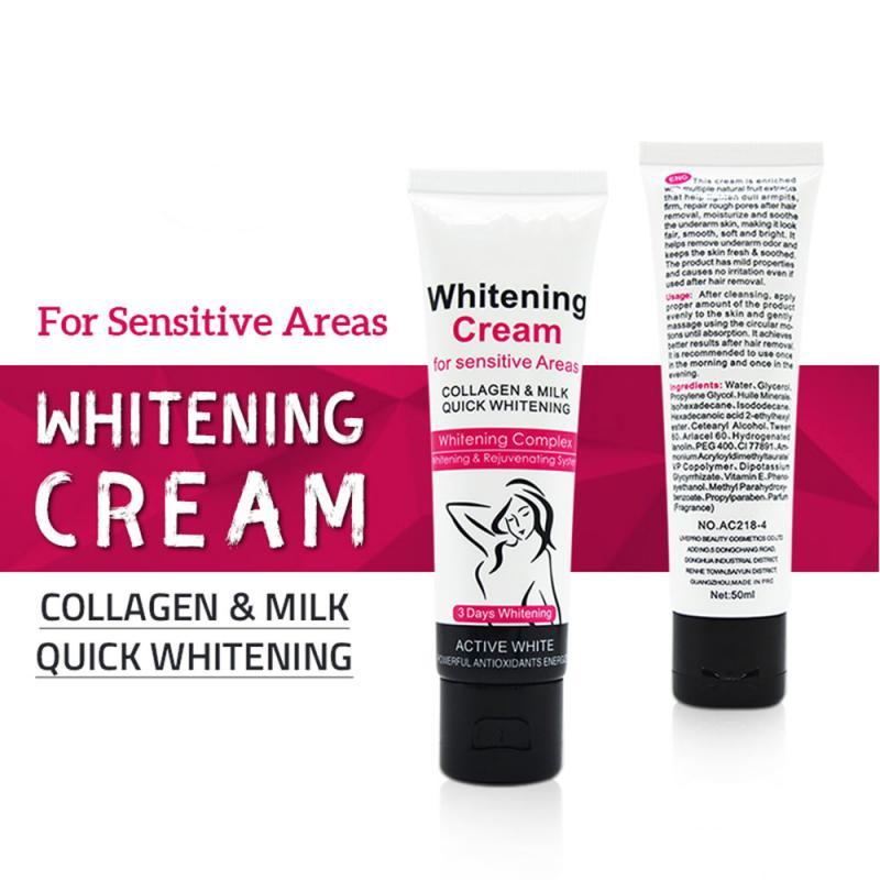Купить с кэшбэком NEW 2020 7-Day Armpit Whitening Cream Skin Lightening Bleaching Cream Underarm Dark Skin Whitening Intimate Body Lotion
