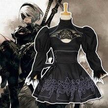 Nier Automata Yorha 2B jeu Anime Cosplay Costume Costume femmes déguisement uniforme ensemble filles fantaisie fête noir Lolita dentelle robe Sexy