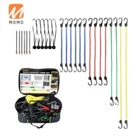 top sales best 30 pcs bungee cord sets premium tie down bungee cords with hooks kit