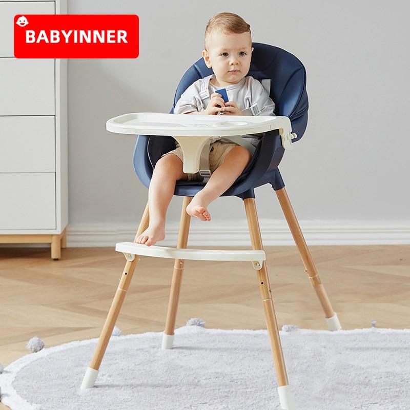 Регулируемое детское обеденное кресло babyinside, многофункциональное детское кресло-бустер для кормления, обеденное кресло, детское Высокое К...