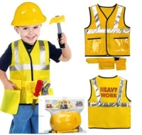 iplay ilearn construction worker costume kit for kids role play toy set career costumes heavy worker cosplay