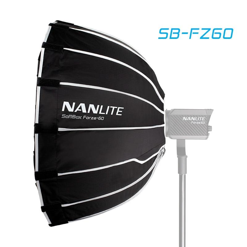 Nanguang SB-FZ60 60cm Softbox For Nanguang Forza 60 Light Umbrella Photography Light Soft Box Bowen Mount Round