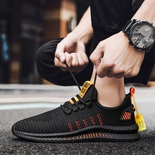 High-quality Casual Men's Shoes Flying Woven Breathable Hollow Tide Shoes Comfortable Light Couple S