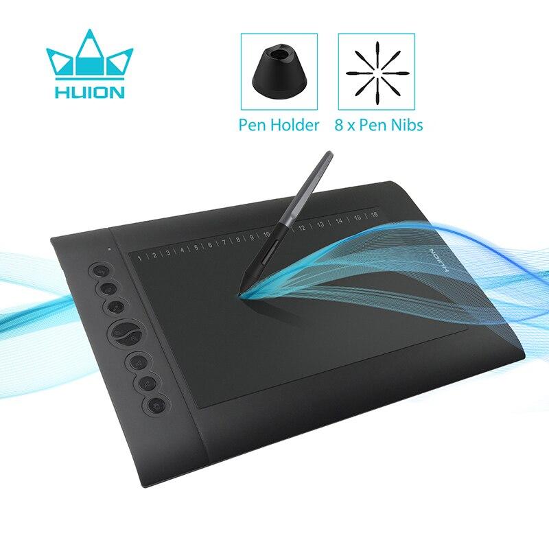 HUION H610 PRO V2 новейший графический планшет Профессиональная цифровая ручка для рисования планшет с ручкой без батареи функция наклона 8192 уровней