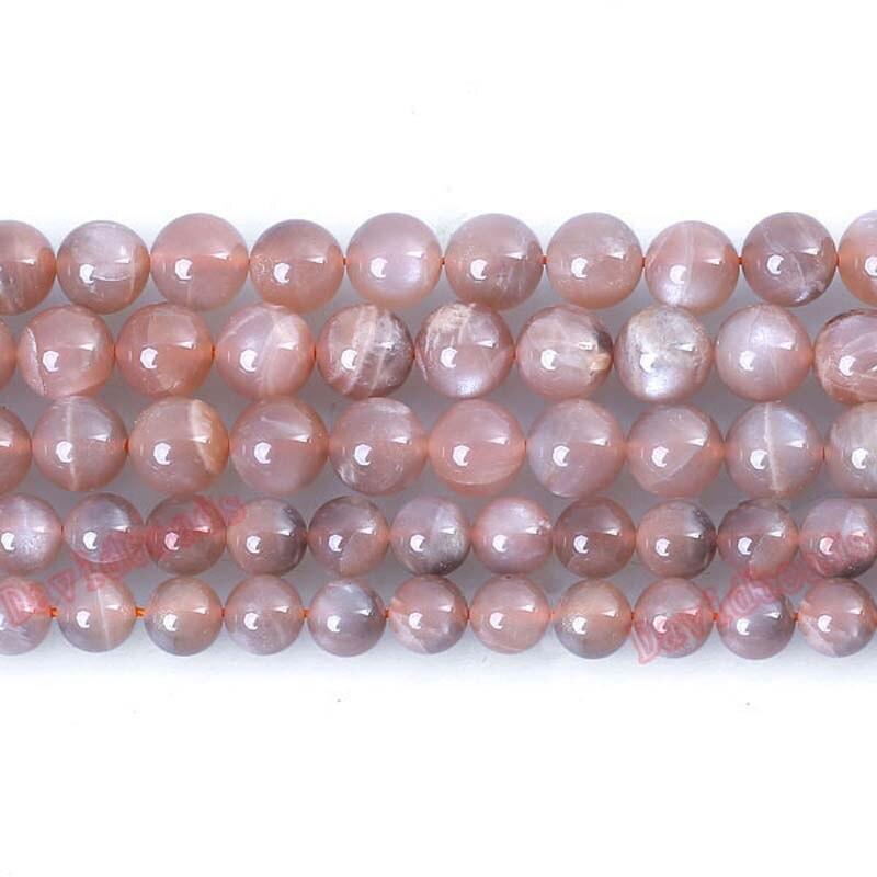"""Cena fabryczna naturalny brzoskwiniowy kamień słonecznikowy okrągły luźne koraliki 16 """"Strand 6 8 10MM Pick rozmiar do tworzenia biżuterii diy"""