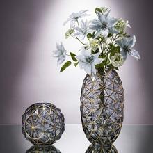 Minimalist cam vazo ev dekorasyon hidroponik çiçekler kuru çiçek oturma odası dekor geometri yaratıcı basit özlü süsler