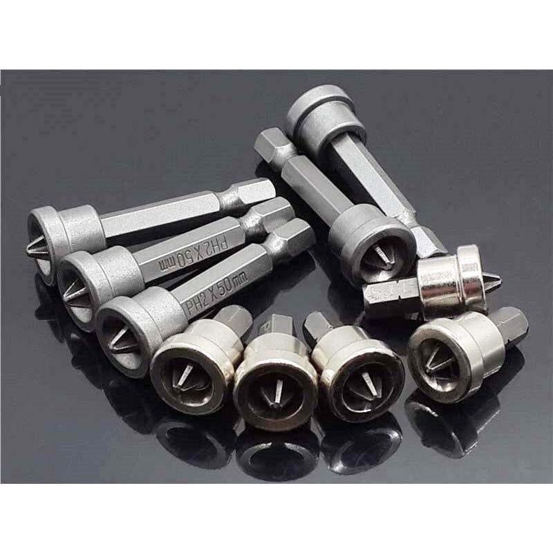 Набор из 5 штук, шурупы для гипсокартона, отвертки PH2 с шестигранным хвостовиком, димплеры для гипсокартона, сверла, инструменты 25/50 мм