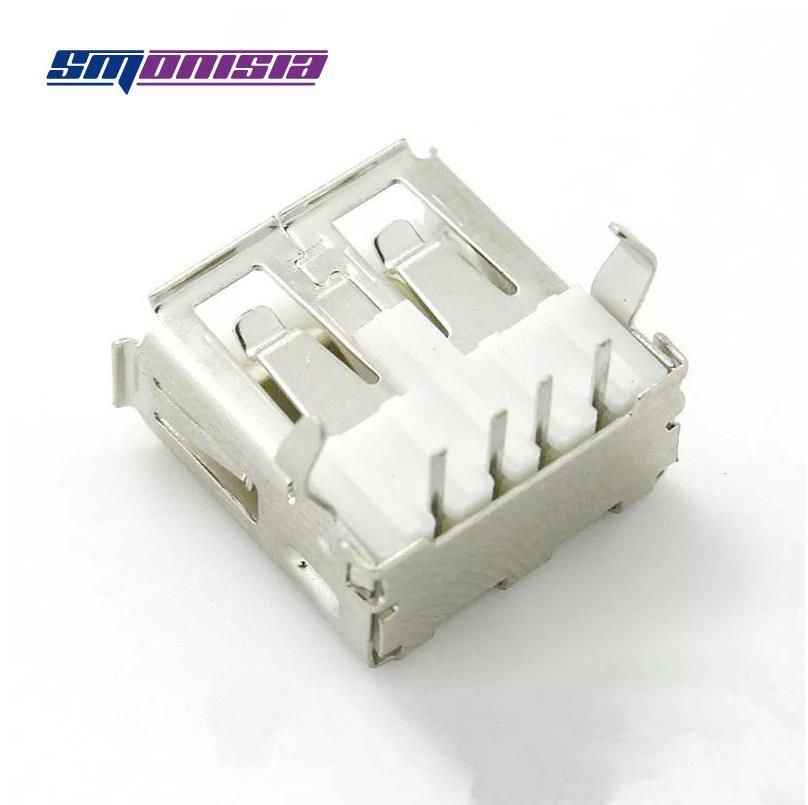 موصل USB من النوع A ، 1000 قطعة ، 90 درجة ، أنثى ، خط مستقيم