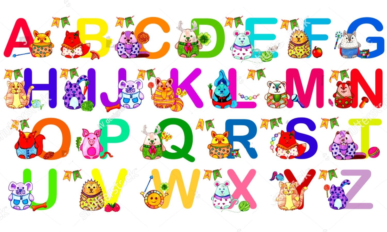 JMINE Div 5D letras del alfabeto coloridas K M E R B pintura de diamante completo punto de cruz kits de arte Animal pintura 3D por diamantes