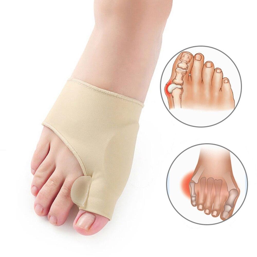 1 par de dedo do pé separador joio corrector toe cinta ortopédica hallux valgus alívio osso polegar ajustador correção para homem e mulher