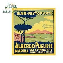 EARLFAMILY, 13cm x 12cm, para Napoli, póster Retro, pegatina de reparación de coche, pegatina de impresión personalizada DIY, adecuada para SUV RV, Material de vinilo
