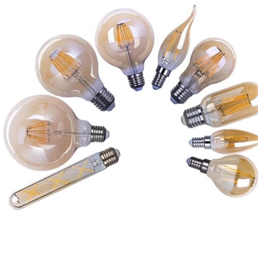 YANG MIN Free Shipping Decorative light C35 110v 220v  4w e14 led dimmable candle bulbs  2100-2200k  amber  cover enlarge