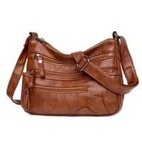 2021 women shoulder bag pu leather multi lay luxury handbags designer shoulder crossbody bag female fashion female for ladies