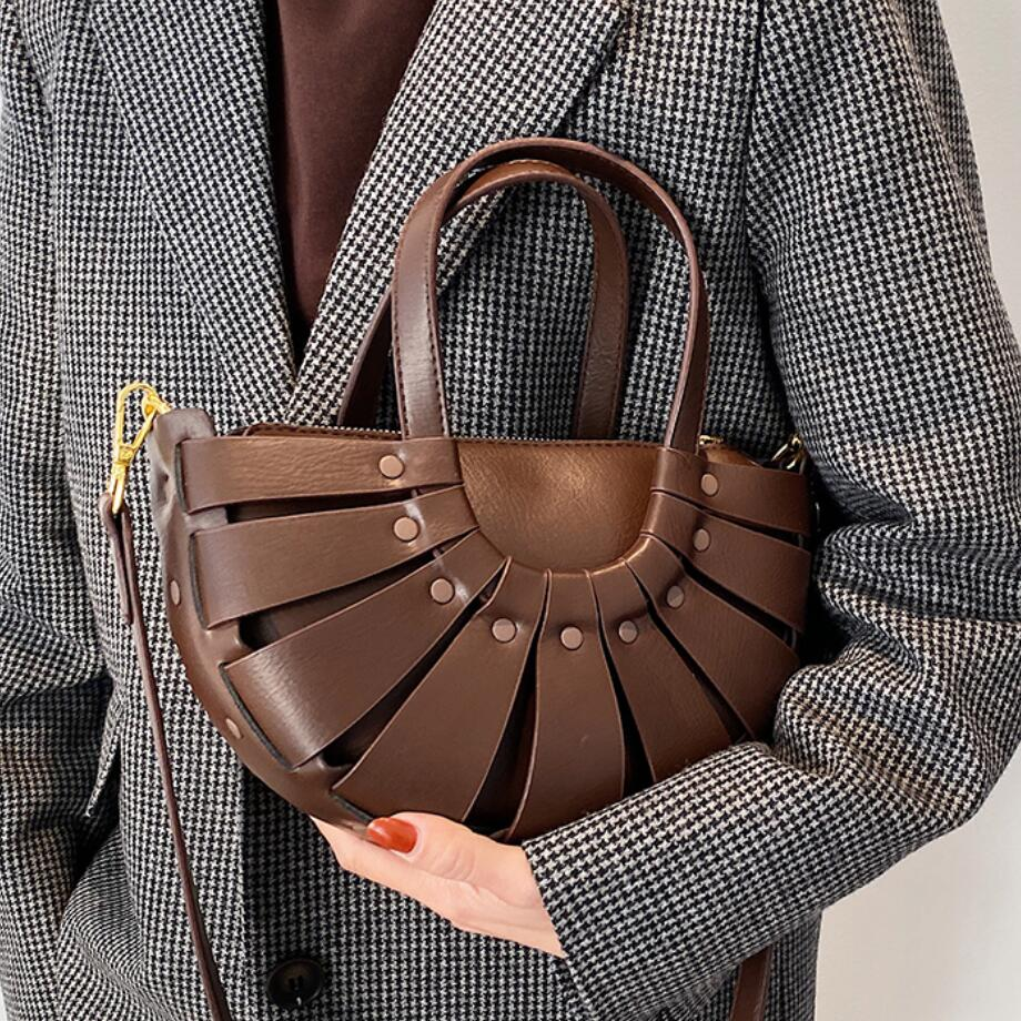Luxury Brand Ladies Tote bag 2021 Fashion New High-quality PU Leather Women's Designer Handbag Vintage Shoulder Messenger Bag