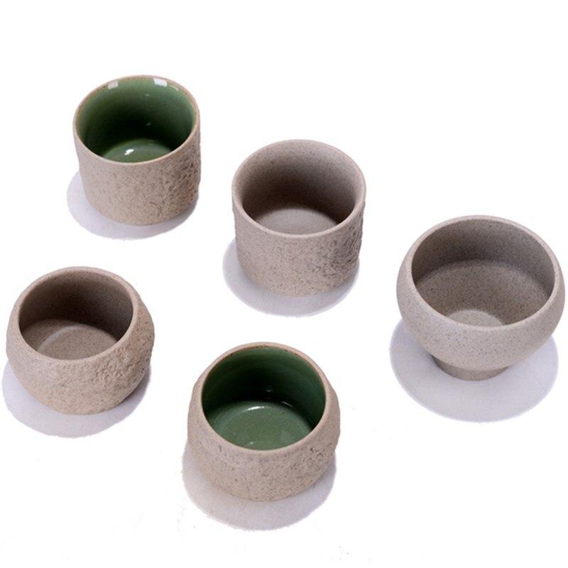 Taza de té de cerámica gruesa japonesa, taza principal de cerámica para Puer, taza de té de porcelana, juego de té Kung Fu