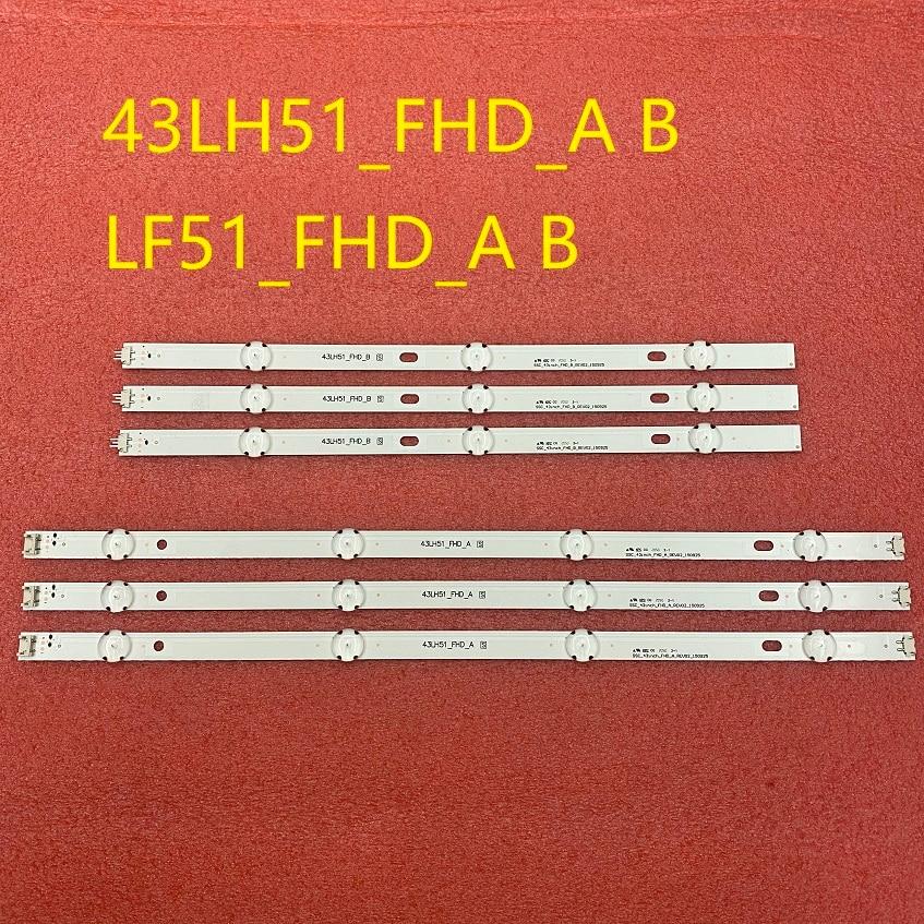 6 PCS/set LED backlight strip for LG 43LF510V 43LF5100 43LH5100 43LH5700 43LH570A 43LH520V 43LH590 4