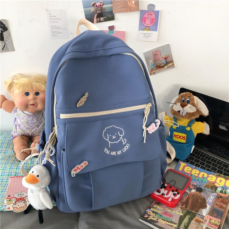 Small fresh schoolbag female Korean Harajuku student girl backpack college style Japanese cute cute