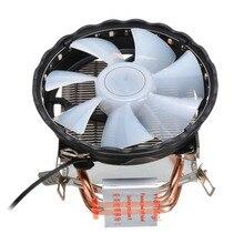 3Pin CPU soğutma soğutucu RGB LED soğutucu Fan 4 ısı borusu radyatör CPU soğutucu Intel LGA 1150/1151/ 1155/1156/1366/775 AMD