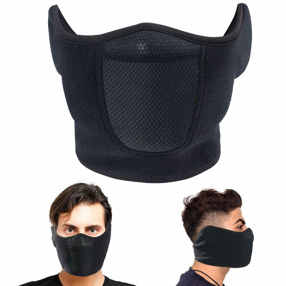 US STOCK Fleece Ski Half Face Cover Winter Ear Warmer Cycling Skiinig Snowboard Masks for Men Women