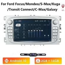 AutoRadio Android 2din HeadUnit pour Ford/Focus/s-max/Mondeo 9/galaxy yc-max AutoRadio lecteur vidéo multimédia GPSNavigation 4GWIFI
