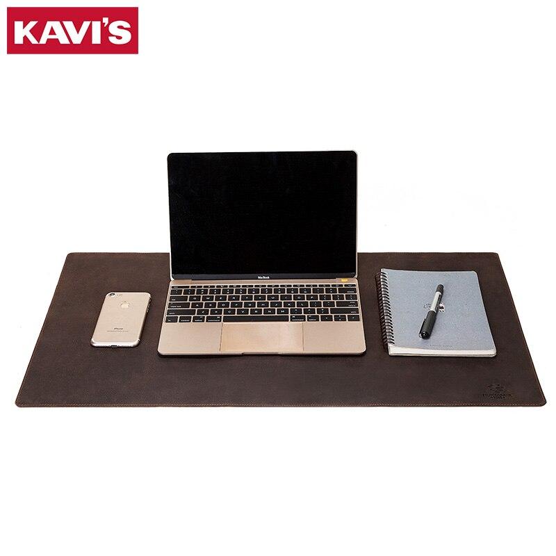 Tapete do Rato de Couro Tapete do Rato Almofada para Computador Kavis Crazy Horse Teclado Sólido Computador Escritório Mesa Mousepad Gaming Portátil Novo