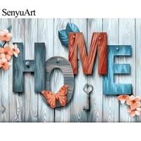 SenyuArt     kit de peinture diamant  broderie complete 5d  points de croix  mosaique  strass ronds  artisanat  decoration de maison  Diy bricolage  3d