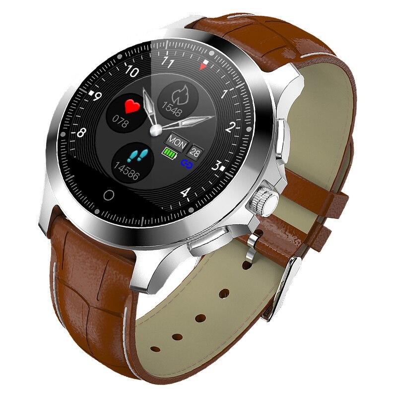 Monitoramento à Prova Pulseira de Relógio Marca Superior Magia Relógio Inteligente Freqüência Cardíaca Sono Pressão Dwaterproof Água Wearable Passometer Aço Couro