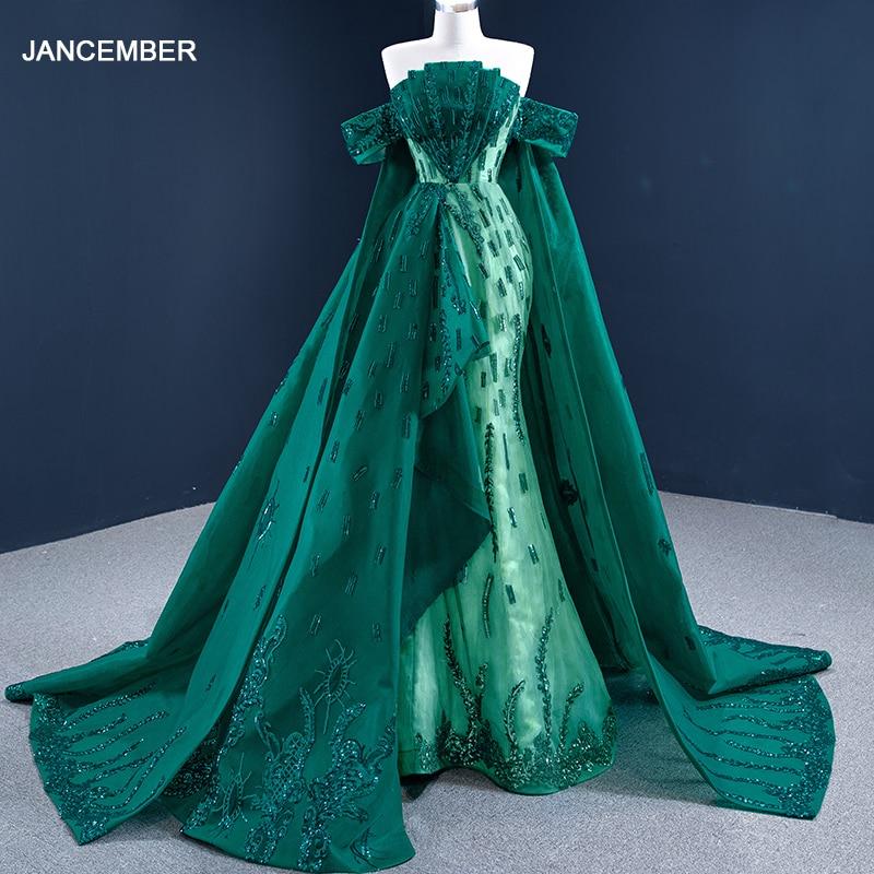 J67231 فستان حفلة موسيقية مطرز بالخرز الأخضر 2021 ، فستان حفلات برباط من الخلف ، خط a ، بدون حمالات