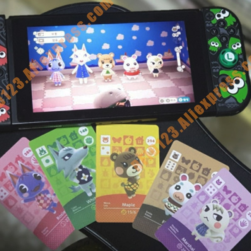 (251 a 275) Tarjeta de cruce Animal Amiibo tarjeta NFC impresa Compatible con selección de la lista