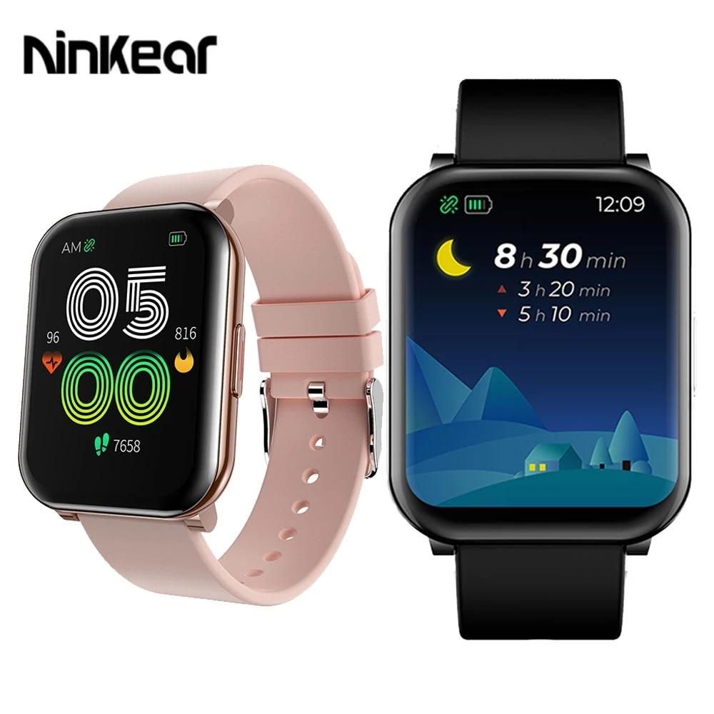 Ninkear Air 2 ساعة ذكية 1.69 بوصة IP67 مقاوم للماء ISP 240*280 الصحة رصد وضع الرياضة رسالة تذكير الموسيقى ساعة ذكية