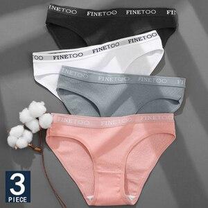 3PCS/Set Cotton Underwear For Woman Sexy Letter Panties Underpants Female M-XL Briefs Intimates Lingerie 6 Solid Color Pantys