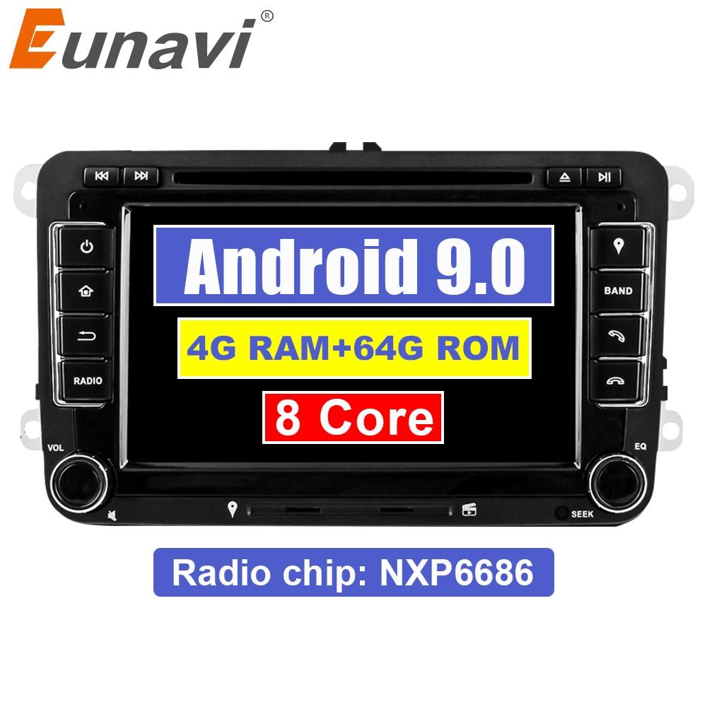 Eunavi tda7851 Android 9 lecteur DVD de voiture Audio Radio GPS navigation pour VW GOLF 6 Polo Bora JETTA B6 PASSAT Tiguan SKODA OCTAVIA