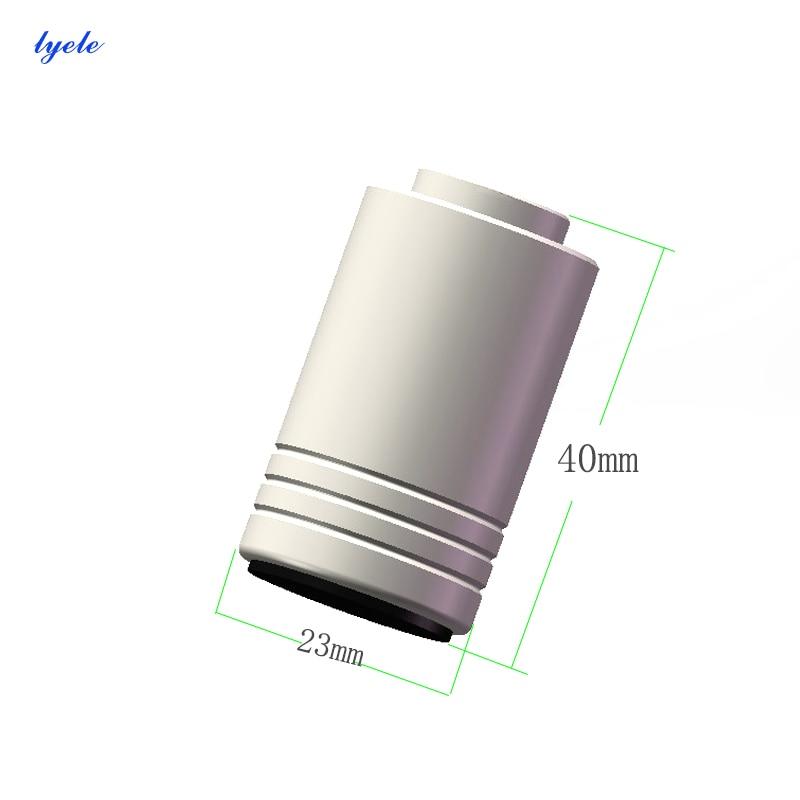 Amplificador de Áudio Lyele Chassi Almofada Diâmetro 23 Altura 40mm Aumentado Computador Host Refrigeração pé