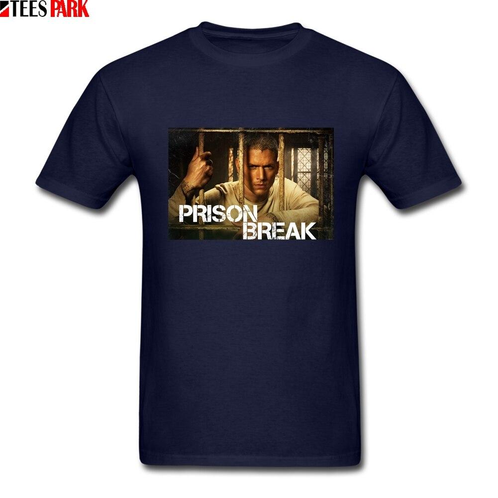 Ontwerp T-shirt Vintage Michael Scofield T-shirt Gevangenis Break Thema Cool Tees Comfortabele Stof Street Style Mannen T-shirt