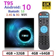 Android 10 TV Box T95 H616 6K HD 2.4G&5G Wifi Google Voice Assistant Support Multiple Media Player V