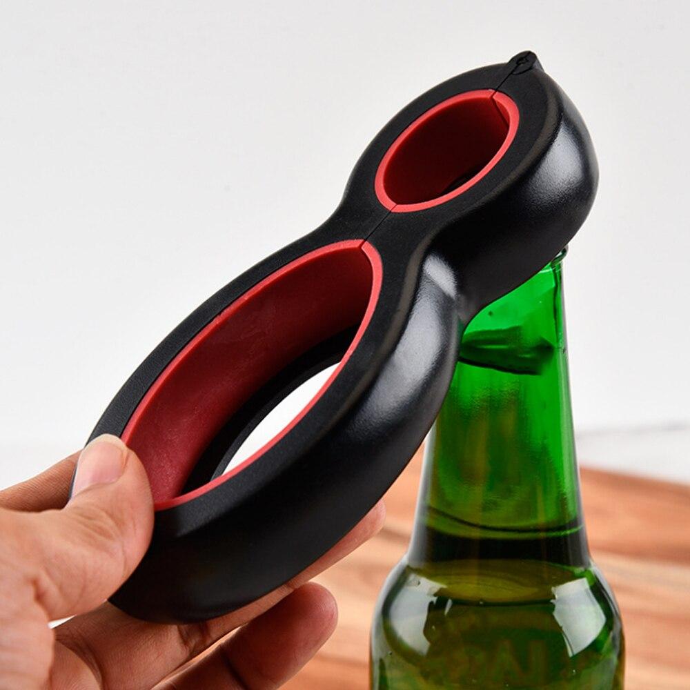Многофункциональный штопор 6 в 1 консервный нож для пивных бутылок все в одном консервная банка для пива крышка для пива скручивающаяся банка открывалка для вина в форме когтя