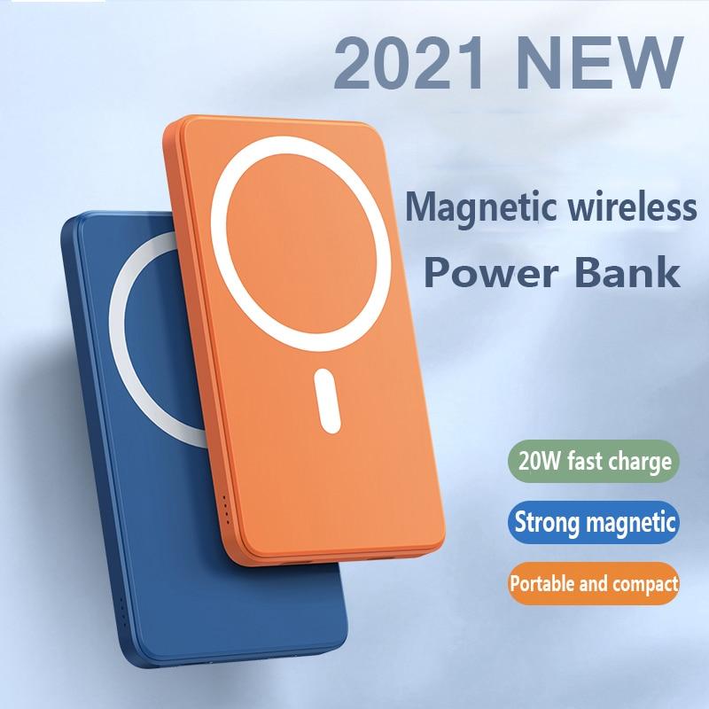 2021 جديد 10000mAh المغناطيسي بنك الطاقة اللاسلكية 15 واط الهاتف المحمول شاحن سريع آيفون 12 13 برو ماكس بطارية مساعدة خارجية