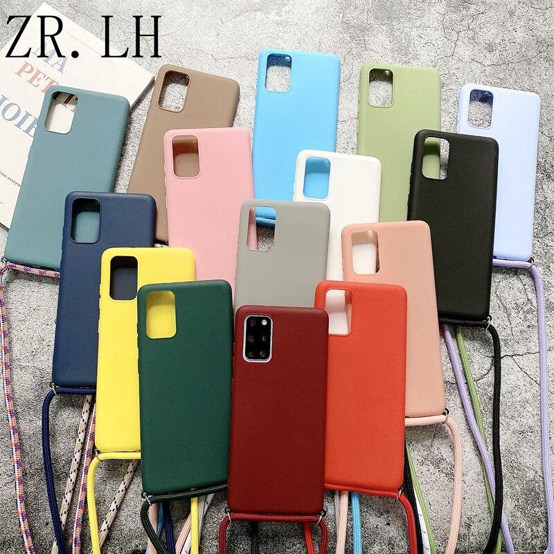 Чехол на шнурке и цепочке для Samsung Galaxy A32, A42, A52, A72, A51, A71, A31, A40, A10, A20, A30, A21S, A20E