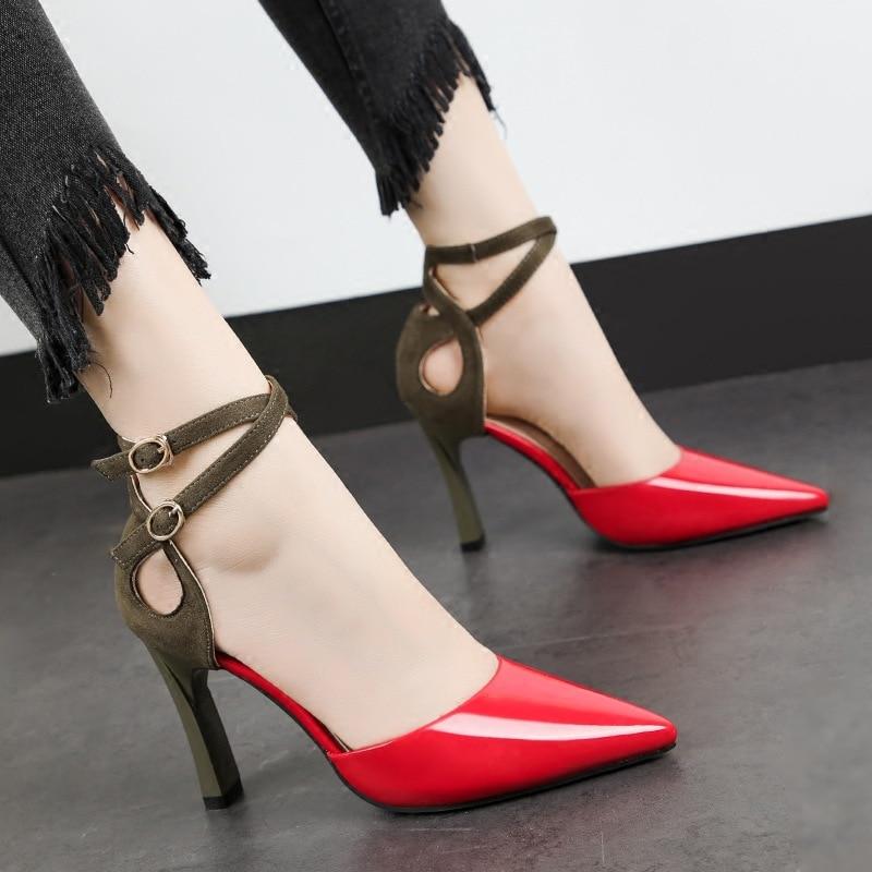Price Sexy Gladiator High Heels 8cm Women Pumps Wedding Dress Shoes Woman Valentine Stiletto Zapatos De Mujer Rome wer4