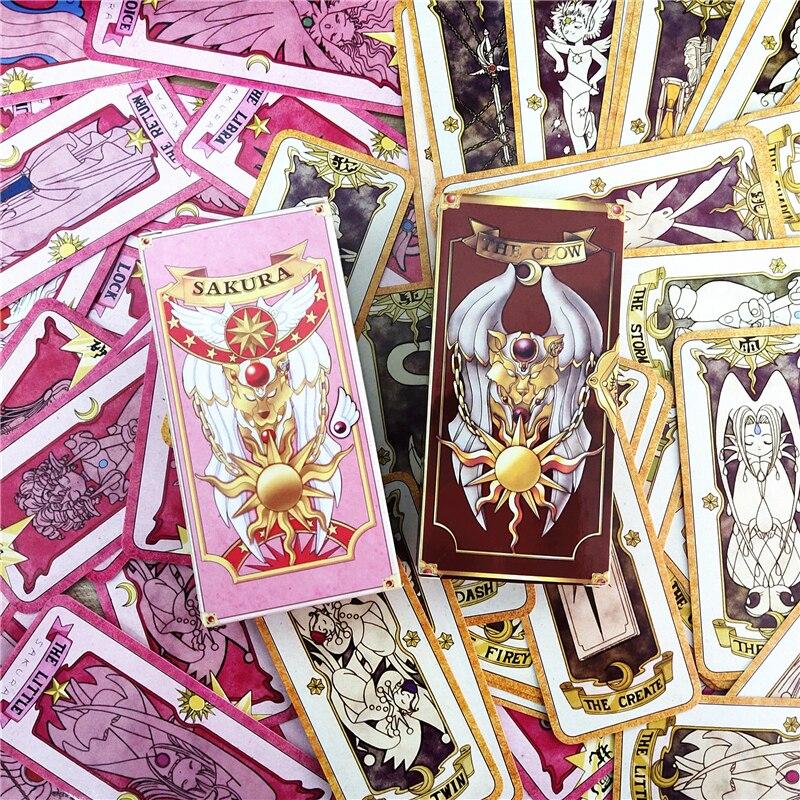 1 jeu de cartes danime Sakura Clow carte accessoire de cosplay KINOMOTO SAKURA carte capteur cartes Sakura Tarot