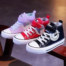 Children Canvas Shoes Boys Girls Denim Sneakers 2021 Autumn Anti-Slippery Fashion Kids Shoes for Stu