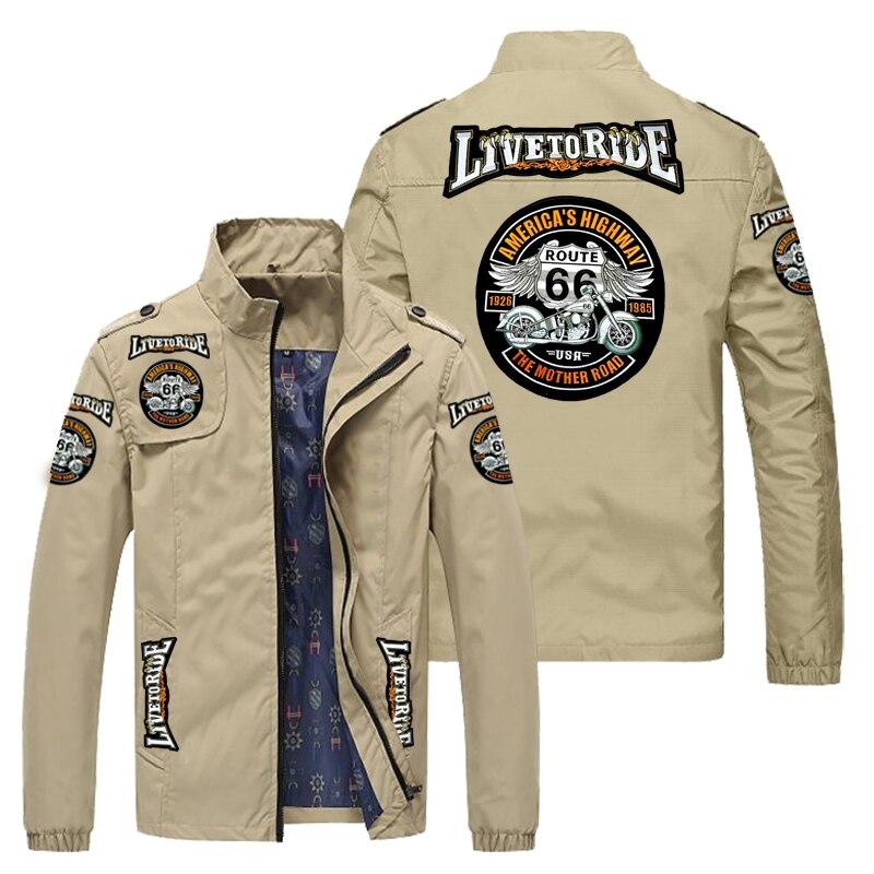 Chaqueta de motocicleta para hombres asiáticos... chaqueta cortavientos informal al aire libre...